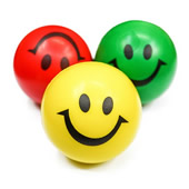 Smiley Face Stress Reliever Ball