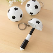 Soccer Folding Ballpen with Keychain