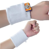 Terry Wristband with Pocket