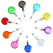 The round retractable badge holder