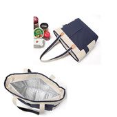 Two-tone Insulated Cooler Tote Bag
