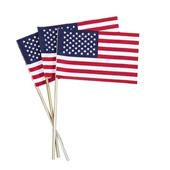 USA Flag with Stick