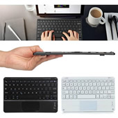 Ultra-Slim Bluetooth Keyboard with Built-in Touchpad