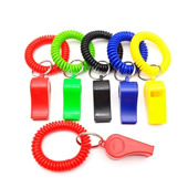 Whistle Key Chain with Coil