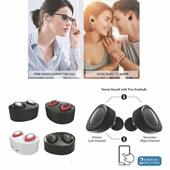 Wireless In-ear Double Earphones with Charging Socket