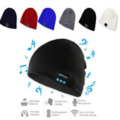 Wireless Knit Beanie Cap With Bluetooth Earphone