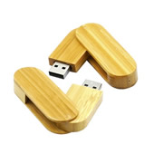 Wooden Swivel USB Flash Drive